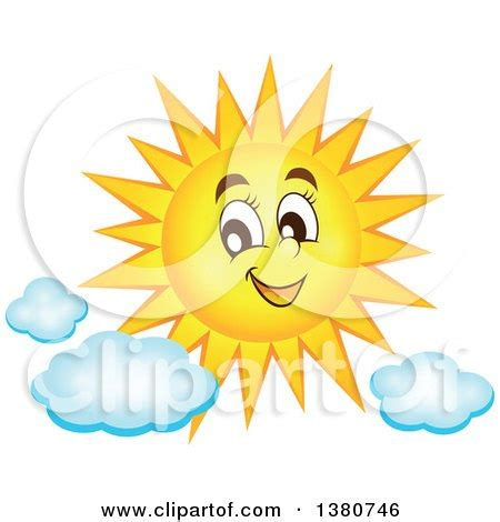 Cloud clipart happy sun - Pencil and in color cloud
