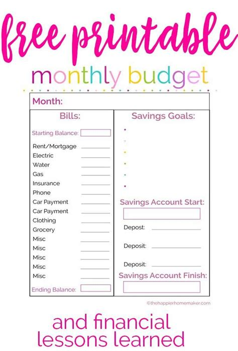 patriotic printable monthly budget printable