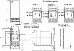 G9sa Safety Relay Unit  Dimensions