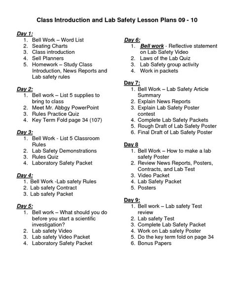 Science Safety Worksheet Middle School  Science Safety Activities Middle School 1000 Ideas