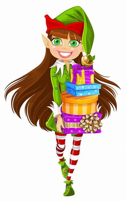 Elf Christmas Clipart Gifts