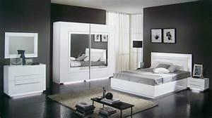 Meuble Pour Chambre : chambre meuble blanc meuble oreiller matelas memoire de forme ~ Teatrodelosmanantiales.com Idées de Décoration