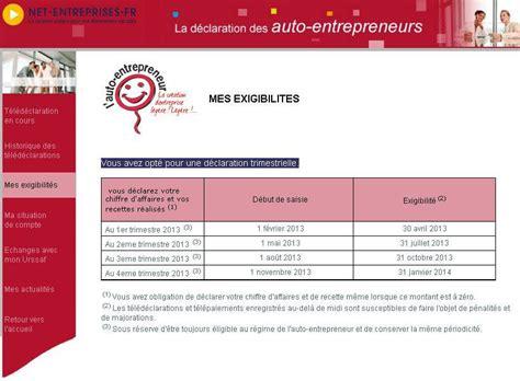 declaration auto entrepreneur chambre des metiers declaration autoentrepreneurs
