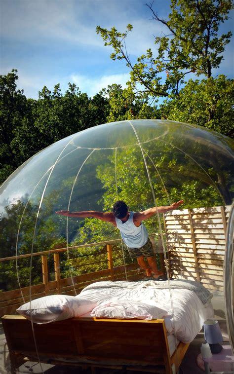 chambre bulle paca dormir dans des bulles bulles des bois dormir dans une