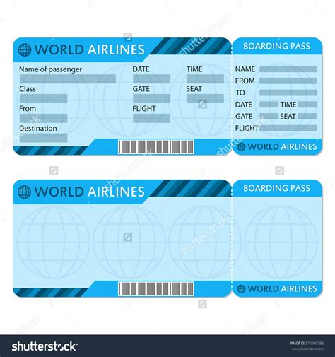 airline ticket template word  mughals