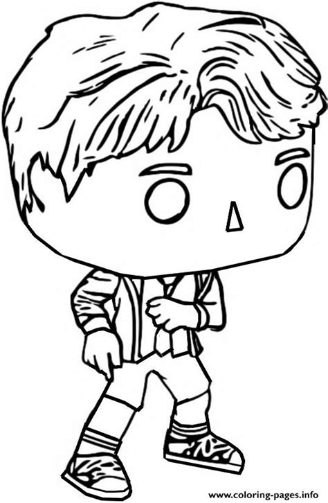 funko pop bt jungkook coloring pages printable