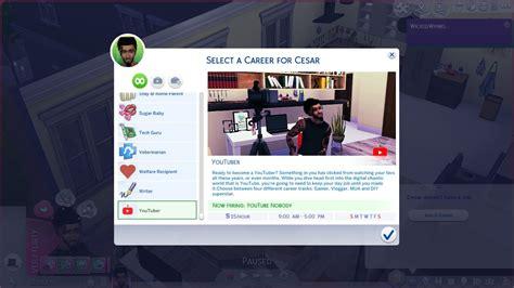 mod  sims youtuber career sims  custom content