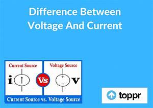 Difference Between Voltage And Current Fundamental Quantities