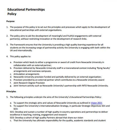 sample partnership proposals sample templates
