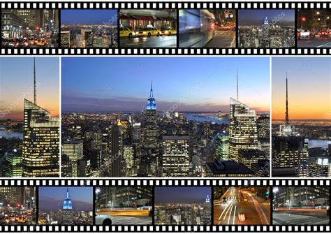 New York City Themed Montage And Collage Featuring