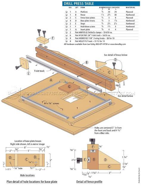 diy drill press table woodarchivist