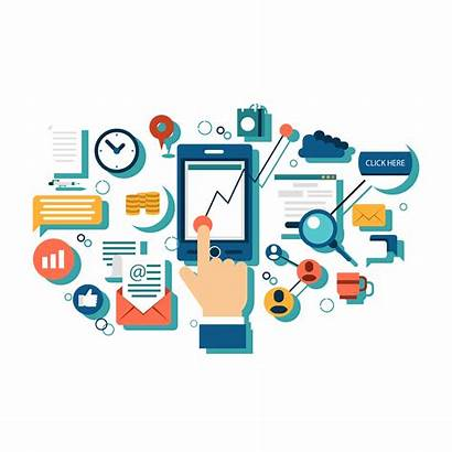 Marketing Digital Social Strategy Illustration Business