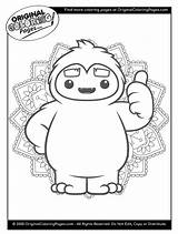 Coloring Yeti Popular Aie sketch template