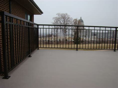 gaco western deck coating gw13 gaco deck and bordeaux aluminum railing yelp