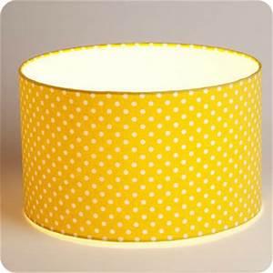 Abat Jour Moutarde : luminaires abat jour suspension abat jour suspension cylindrique tissu grain de moutarde ~ Teatrodelosmanantiales.com Idées de Décoration