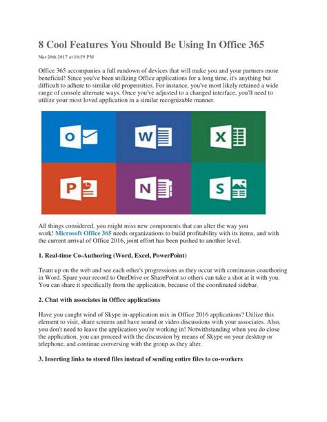 Office 365 Outlook New Features by Ppt 8 Cool Features You Should Be Using In Office 365