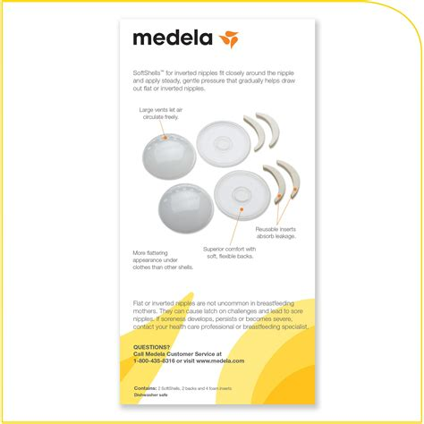 Medela Softshells Breast Shell Soothers Inverted Nipples
