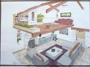 Dessiner Plan De Maison : interieur maison moderne dessin ~ Premium-room.com Idées de Décoration