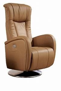 Fauteuil Cuir Camel : desire fauteuil relax electrique cuir vachette camel ~ Teatrodelosmanantiales.com Idées de Décoration