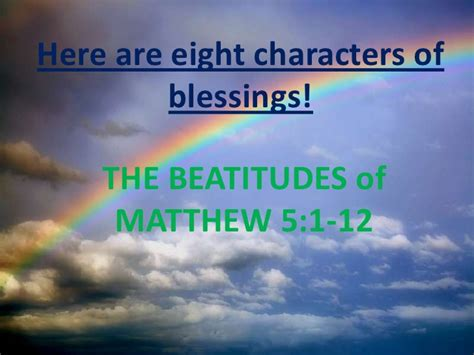 Here Are Eight Characters Of Blessings
