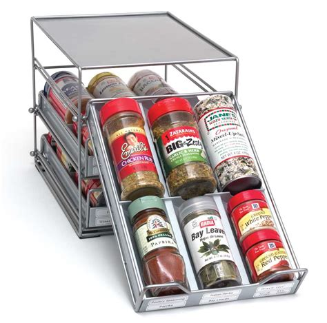 9 pull out organizer spice organizer in spice racks