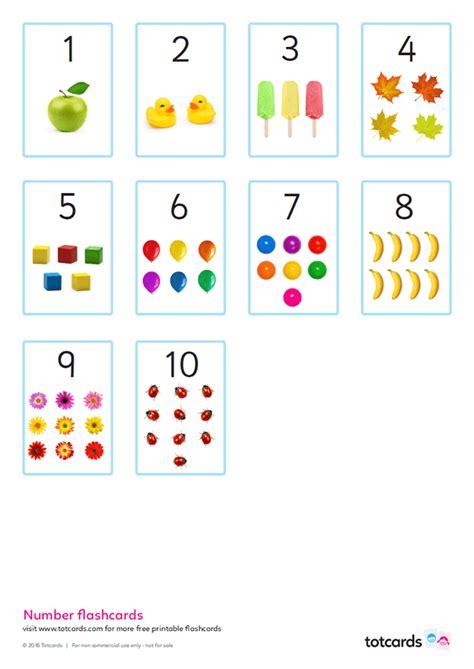 number flashcards  kids totcards