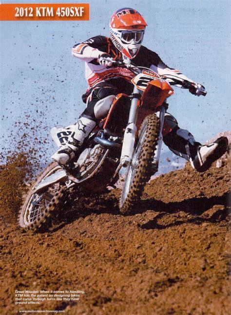 motocross action magazine 2012 ktm 450 sx f article from motocross action magazine