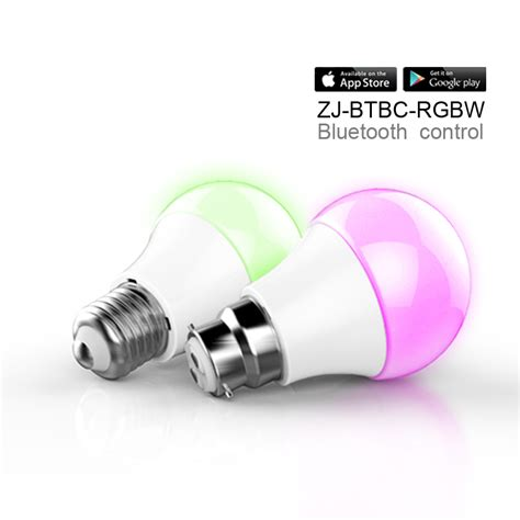 bluetooth smart led bulb 4 5w b22 e26 e27 color changing