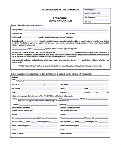 on site rental application form rental application 18 free word pdf documents download