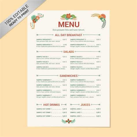 blank menu template free download free menu templates 24 free word pdf documents