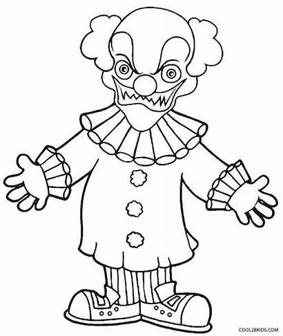 Clown Coloring Ausmalbilder Killer Clowns Konabeun Printable