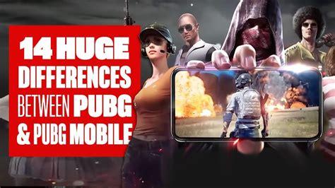 big differences  pubg mobile  pubg pc youtube