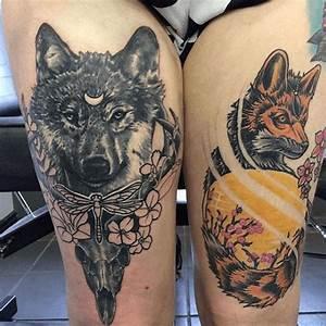 Loup Tatouage Signification : tatouage femme cuisse dessin 3dliveproject ~ Dallasstarsshop.com Idées de Décoration