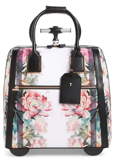 ted baker ted baker london painted posie  wheel travel