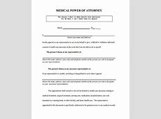 medical power of attorney form free printable