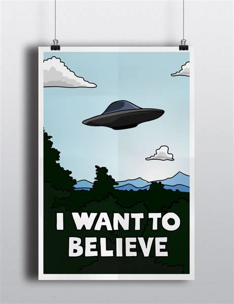I Want To Believe Poster Art Print  Many Sizes On Storenvy