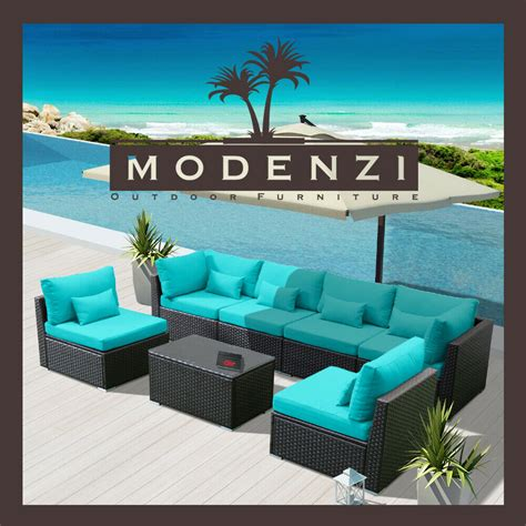 Deals On Outdoor Furniture by Modenzi 7g Outdoor Wicker Rattan Sectional Patio Furniture