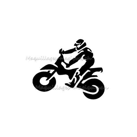 motard pochoir tatouage ephemere longue duree moto ybody
