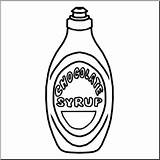 Syrup Chocolate Clip Clipart Abcteach Bw sketch template