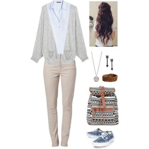U0026quot;cute school outfit for uniformu0026quot; by senaidah on Polyvore | f a l l/ w i n t e r | Pinterest ...