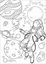 Astronaut Coloring Moon Printable Coloringfolder Articulo Space sketch template