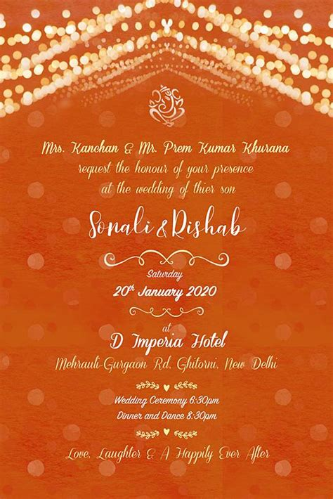 illustrated north indian wedding invitation sporg stores