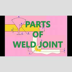 Parts Of Weld Joints Youtube