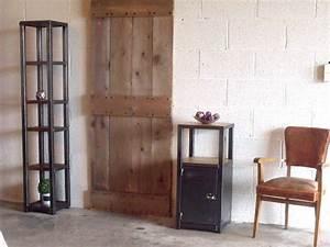 Meuble Entree Industriel : meuble d 39 entr e bois m tal style industriel atelier ~ Teatrodelosmanantiales.com Idées de Décoration