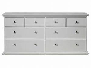 Commode 8 Tiroirs : commode harlington coloris blanc vente de commode conforama ~ Teatrodelosmanantiales.com Idées de Décoration