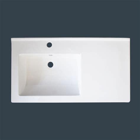 img bath white ceramic vanity top  integral offset