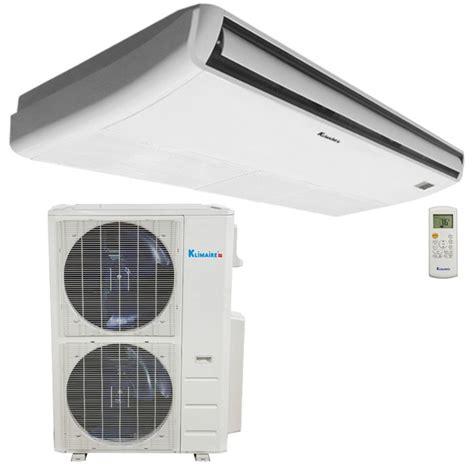 ceiling fan with air conditioner 48 000 btu klimaire decorative floor ceiling fan