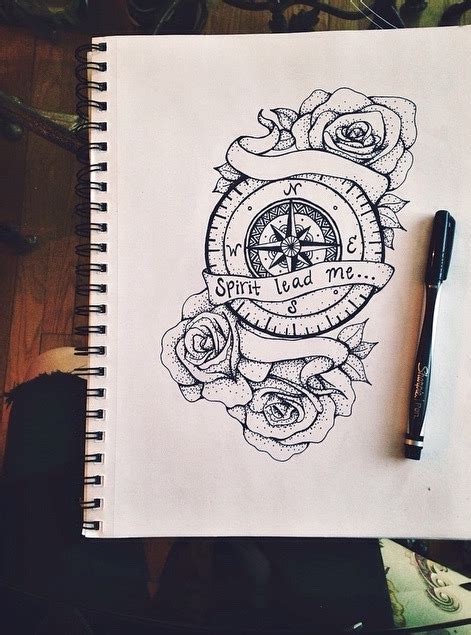 compass tattoo  tumblr