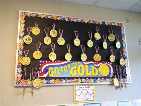 gold bulletin board idea setting goals