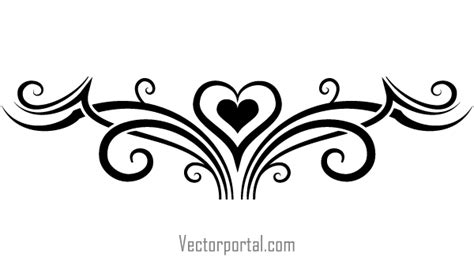 tribal hair design templates tattoo designs with heart tribal elements vector